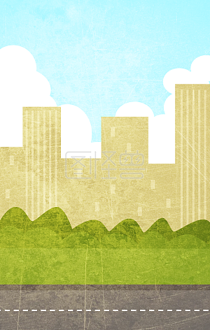 Outdoor landscape flat illustration