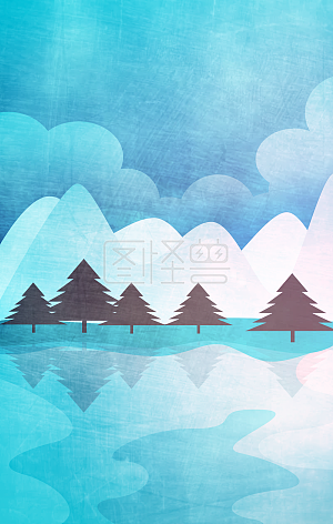 Simple cold landscape background