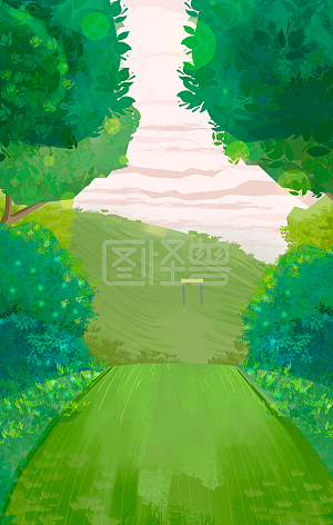 Illustration monster original background spring illustration background
