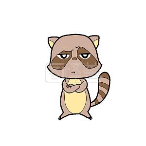 浣熊+心跳+表情表情到的马上包图片
