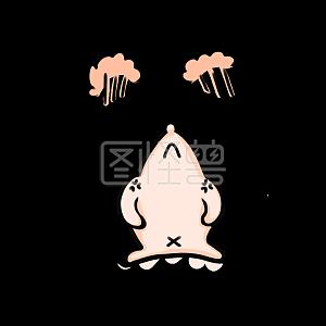 Cute cartoon angry hedgehog emoji pack element