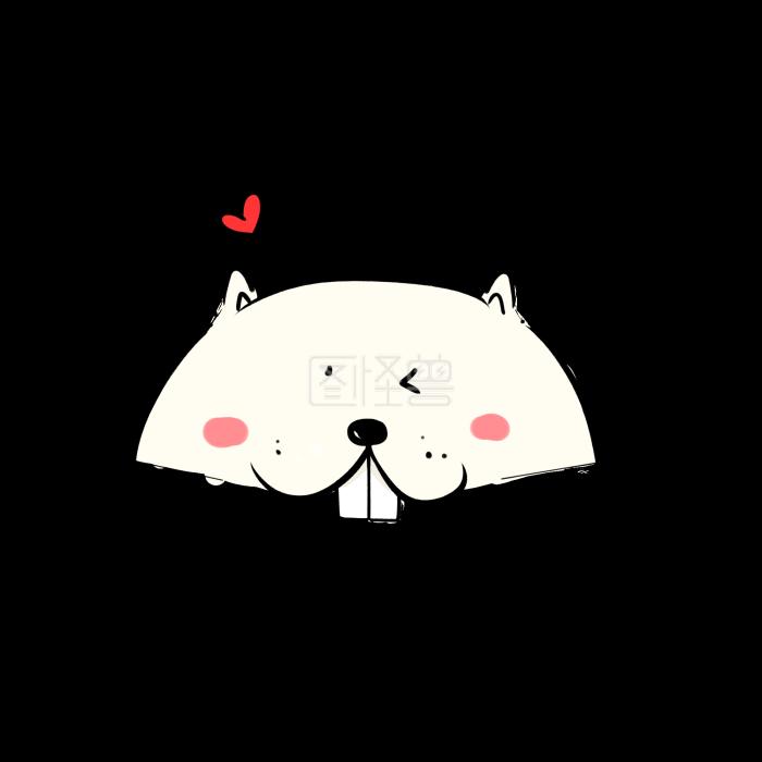 爱心小指纹简约小a爱心表情鼹鼠动物表情图图片