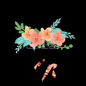 Decorative flowers small fresh illustration