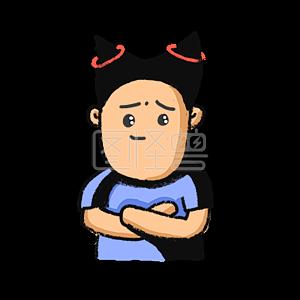 Illustration monster original element cartoon character take me emoji pack illustration element