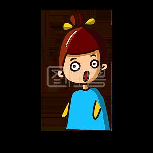 Illustration monster original element cartoon character surprised stare emoji pack illustration element