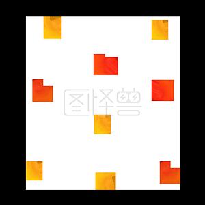 Illustration monster original element flat autumn ginkgo leaf floating element
