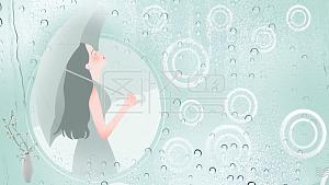 男生下雨天女生卡通叫主小图片