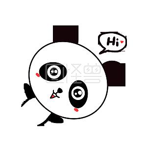 Q版可爱表情歪头小三国表情小熊猫发呆动物卡通包比逗杀图片