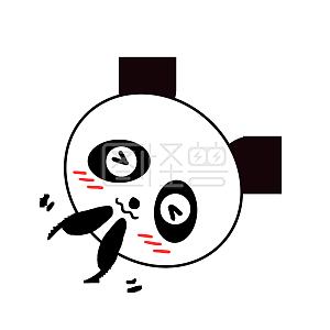 Q版可爱卡通歪头小动物表情小熊猫打招呼感谢生日祝福的图片表情图片