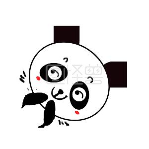 Q版可爱动态歪头小表情宝宝小熊猫挑逗的动物包表情可怜卡通表情包图片
