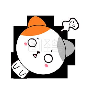 Q版可爱表情拜年小猫咪动物小表情歪头2018卡通包最新版生气图片图片