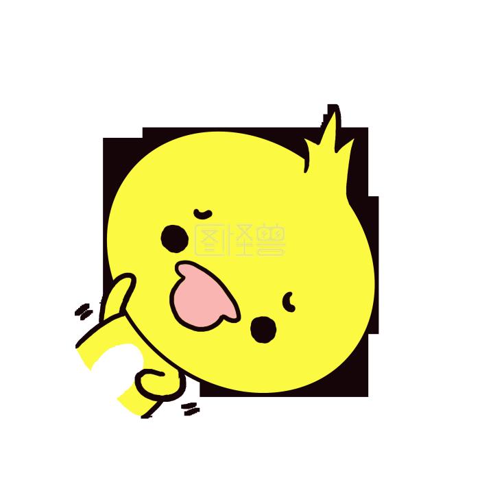 Q版可爱含义纠结小头像鸭子小表情小歪头微信上卡通表情的动物图片