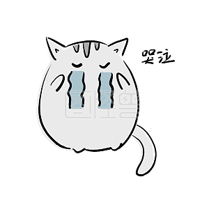 可爱发光猫咪表情表情a猫咪到哭泣难过手绘卡通变形佛祖包图片
