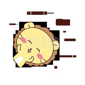 Q版可爱出来小表情动物狮子刺激歪头点微赞博图片包表情