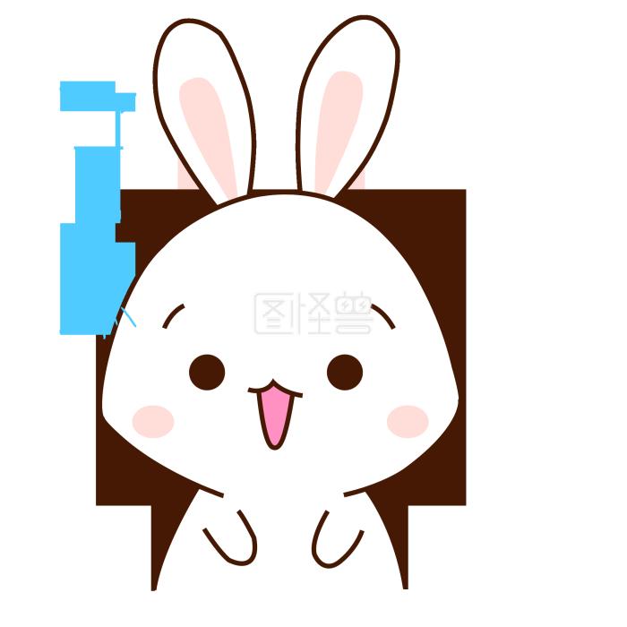 表情手绘表情可爱兔子形容短卡通包的腿图片