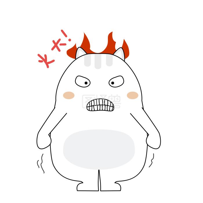 可爱小肥猫生气发火表情表情包喂吗在我的宝贝图片