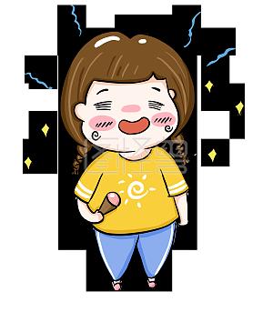 夏季小女孩开心吃冰棍表情下载表情包图片大全包子开心图片