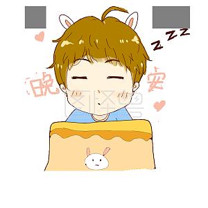 少年可爱兔耳表情卡通可爱发圈的搞笑图片关于不朋友图片