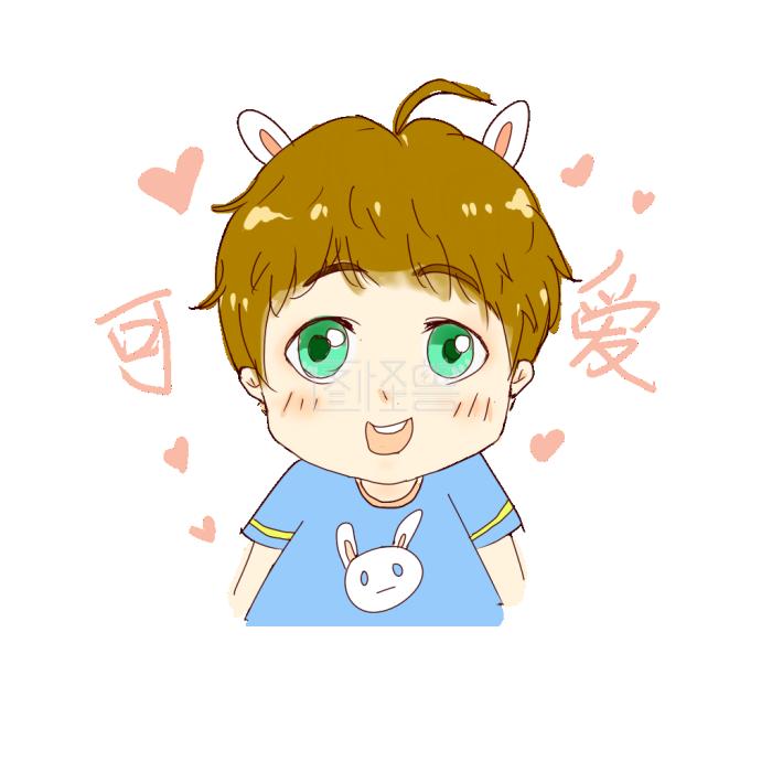表情可爱兔耳图片表情可爱少年包微各种卡通图片
