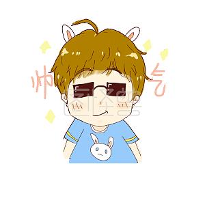 少年可爱兔耳表情表情可爱3崩坏卡通包系列图片