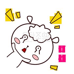 可爱羊羊西瓜萌萌哒手绘风吃表情捂表情耳朵包图片