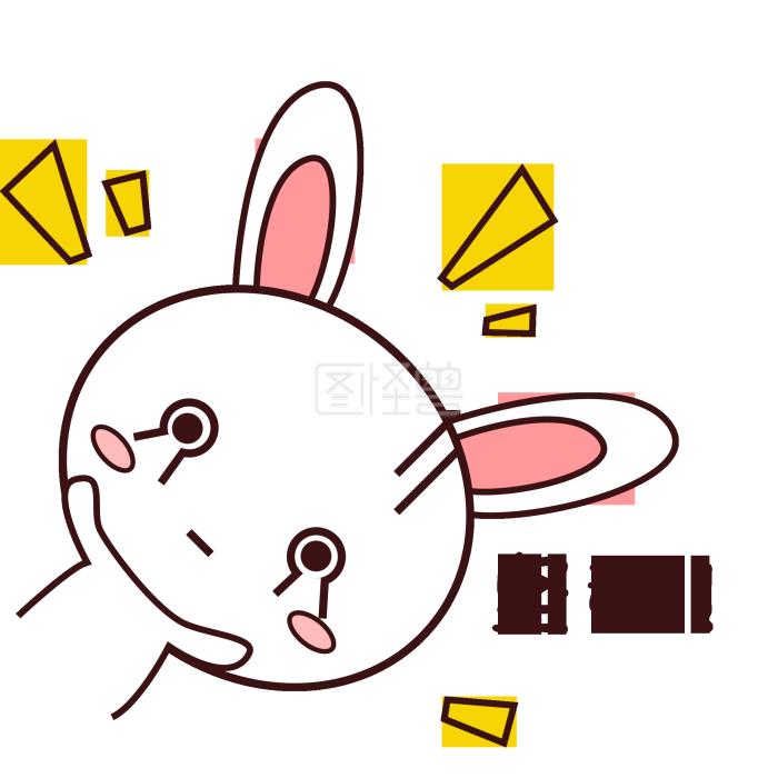 粉嫩搞笑小兔子表情要坚强财神爷可爱的图片图片