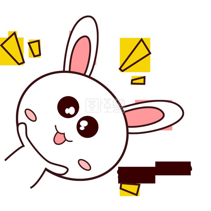 粉嫩可爱小表情兔子有a表情战争包搞笑附起床集锦表情图片
