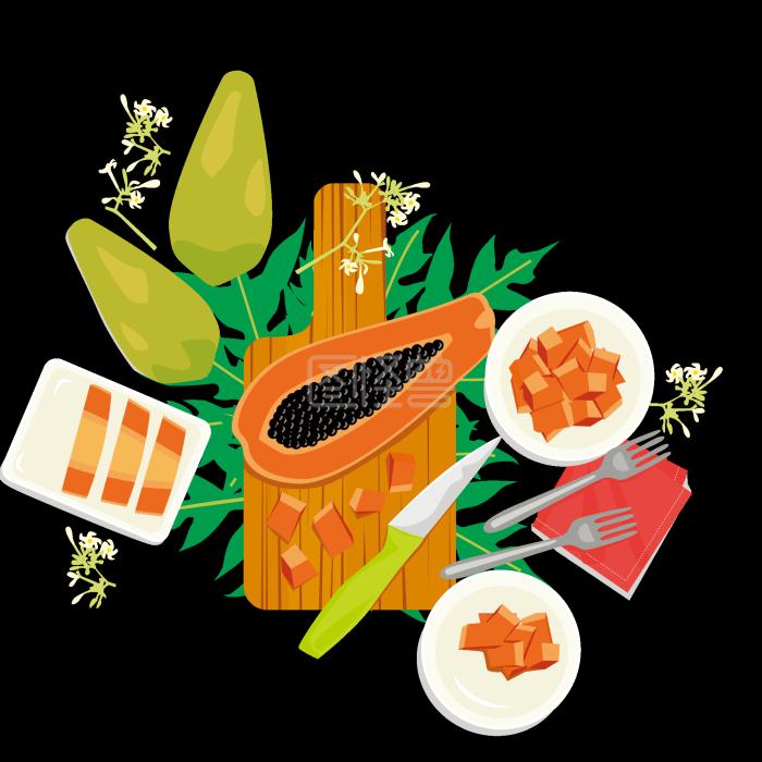 故事水果木瓜西餐背后各国的美食美食图片