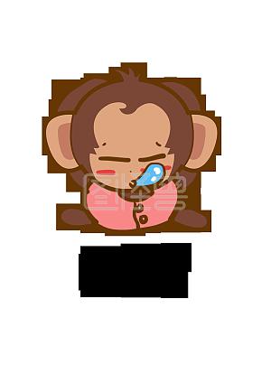 动物大耳猴Q版猴子卡通表情形象聊天角色无关于搞笑的表情包钱图片