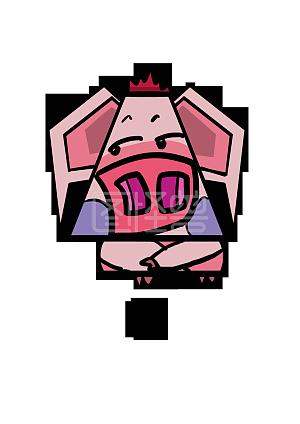 形象Q版表情野猪动物表情聊天卡通无语搞笑角色包鬼女图片