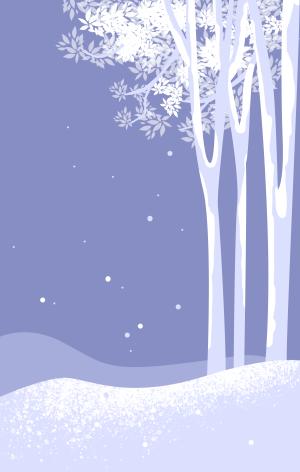 图怪兽原创背景下雪背景插画