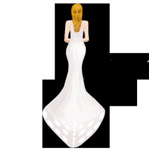 原创婚纱插画元素