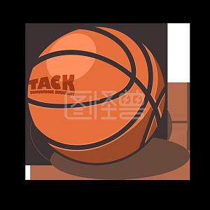 图怪兽原创元素旅游插画元素篮球