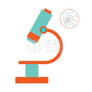 图怪兽原创元素扁平高考开学 学生文具显微镜