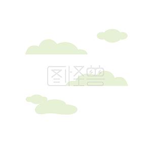 图怪兽原创元素扁平夏日自然风景云彩