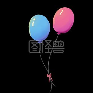 儿童节气球手绘插画
