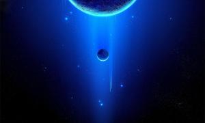 蓝色科技星球banner背景模板PSD分层