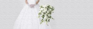 唯美白色婚纱花朵海报背景
