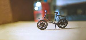 清新 文艺 自行车 摆件 背景banner