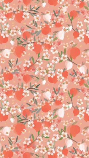 花卉图案植物H5背景