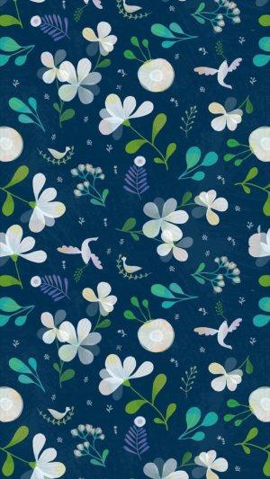 花卉图案壁纸H5背景