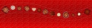 巧克力爱心红色背景