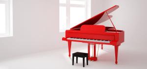 白色房间红钢琴