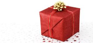精致包装的小礼物背景