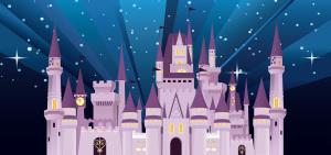 卡通迪士尼城堡图案背景