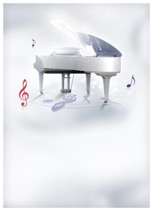 钢琴培训班海报背景