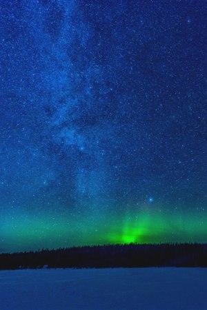 夜空极光美图