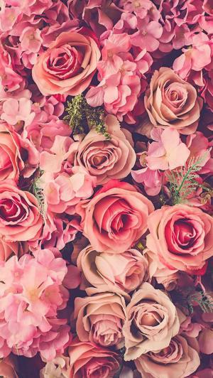 浪漫鲜花无缝背景