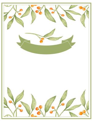 小清新婚礼海报