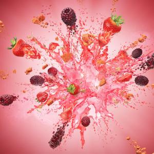 简约水果爆炸背景图